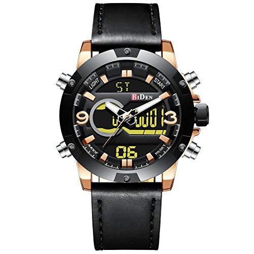 Relojes Hombres Azules Reloj Cronógrafo Impermeable Deportivo para Hombre Reloj Gents de Cuarzo Analógico de Goma Luminoso Militar Cara Grande Fecha del Día Relojes de Pulsera Diseñador de Moda N