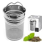amapodo Filtro de té de Acero Inoxidable para té Suelto, Tetera de Especias y Tetera de Botella de té