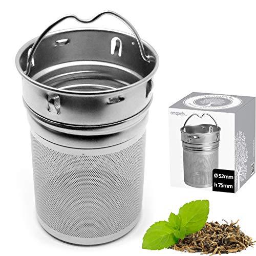amapodo Filtro de te de Acero Inoxidable para te Suelto, Tetera de Especias y Tetera de Botella de te