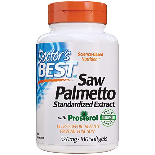 Doctor's Best Saw Palmetto Standardized Extract, 320Mg - 180 Cápsulas Blandas 180 Unidades 120 g
