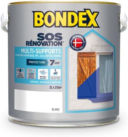 BONDEX - SOS RENOVATION Peinture Multi-Supports - Peinture qui Masque et Prévient les Microfissures - Satin