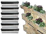 Bada Bing 6er Set Pflanzkasten für Palette Verzinktes Metall Blumenkasten