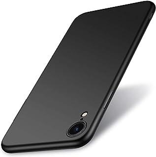 Wsky iPhone XR ケース 耐衝撃 高級感 TPU 背面防水 すり傷つ止め 薄 軽 シンプル 手触り良い 指紋防止 カバー ワイヤレス充電 ミニマリスト (ブラック)