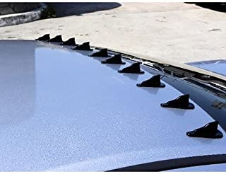 OCPTY ABS Shark Fin Spoiler Wing Compatible with 2008-2016 Mitsubushi Lancer ABS Rear Spoiler with Self-Adhesive Tape