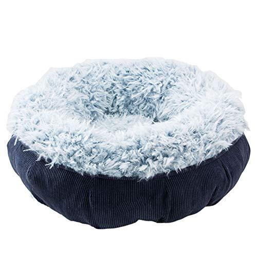 Perro cama Cama de gato cama para mascotas Cama de perro de felpa esponjosa, cálida redonda Pequeño perrito pequeño Puppy suave Sofá de anidamiento, mejorando el sueño y manteniendo el cálido, la cama