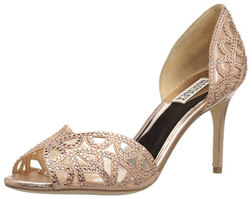 Badgley Mischka Women's Harris Pump, Rose Gold, 9 M US