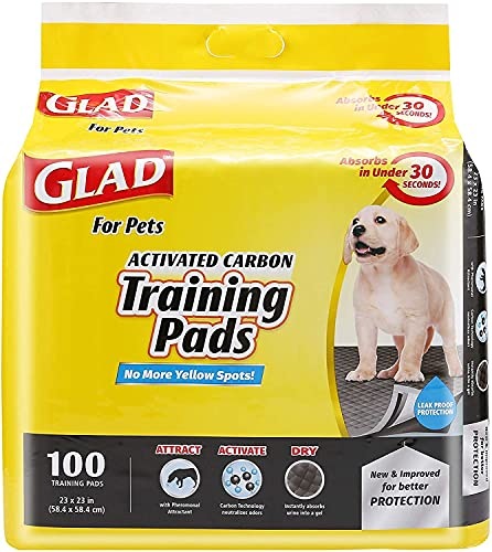 for Pets Jumbo-Size Charcoal Puppy Pads   Black Training Pads That Absorb & Neutralize Urine Instantly   New & Improved Quality Puppy Pee Pads, 100 Count Set