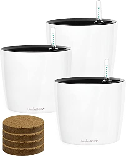 GardenBasix-7-inch-Self-Watering-Planter-with-Coco-Potting-Soil-Indoor-Outdoor-Home-Garden