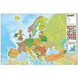 Grupo Erik GPE5126 Poster Mappa Europa Ita Fisico Politico, carta, Multicolore, 91 x 61,5 x 0,1 cm