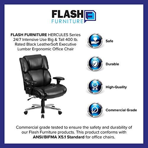 Flash Furniture HERCULES Series 24/7 Intensive Use Big & Tall 400 lb. Rated...