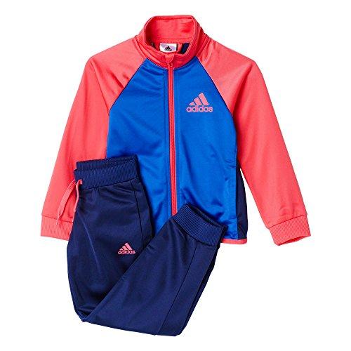 adidas Mädchen Entry Trainingsanzug, Blau/Pink/Grau, 164
