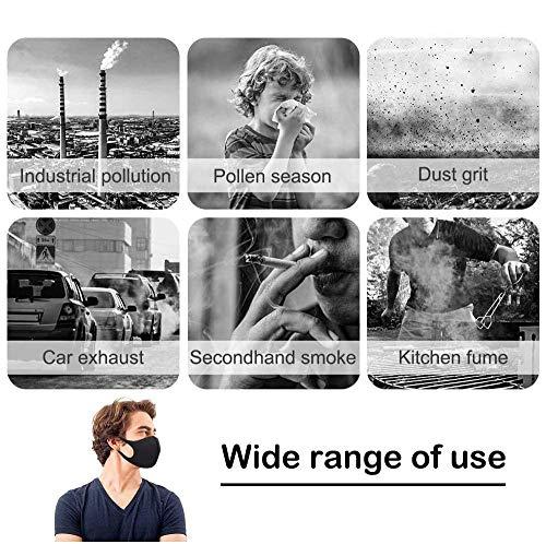 11 Stück Allwetterschutzstücke, Atmungsaktiv, Wiederverwendbar und Waschbar, Geeignet für Outdoor-Aktivitäten, Schwarze - 3