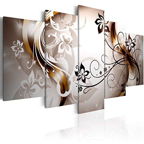 murando Quadro 200x100 cm 5 pezzi Stampa su tela in TNT XXL Immagini moderni Murale Fotografia Grafica Decorazione da parete Fiori Astratto 020110-149