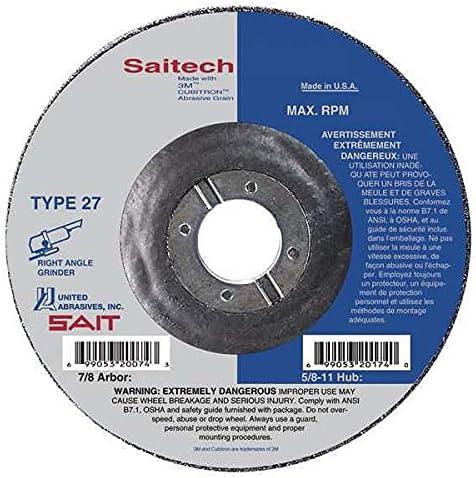 United Popular popular Abrasives-Sait Grinding Wheel T-27 4-1 8 PK25 2x1 4x7 Bargain