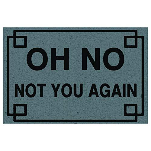 LHM Oh No Not You Again - Felpudo (40 x 60 cm, tejido denso para el medio ambiente de alto tráfico), Gris, 40X60cm