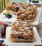 Dulcet Blueberry Crumb Cake Gourmet Gift Basket, Incudes 2 Trays 8 X 8 Crumb Cakes, Ideal for...