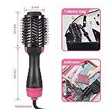 Haartrockner Warmluftbürste, Dee Banna Upgrade 5 In 1 Stylingbürste Hair Dryer & Volumizer Heißluftbürste, Multifunktionaler Negativionen-Föhnbürste, Heißluftkamm für Alle Haartypen - 4