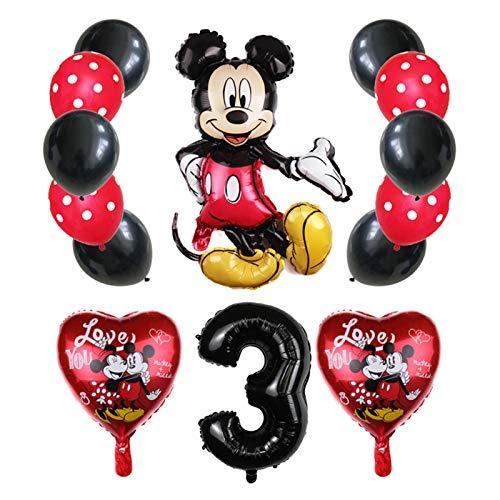 JSJJATQ Globos 14pcs 32 Pulgadas Número de cumpleaños Decoraciones de la Fiesta de cumpleaños Baby Shower Niños Partido Mickey Balloon Air Globo (Color : Set4 3)
