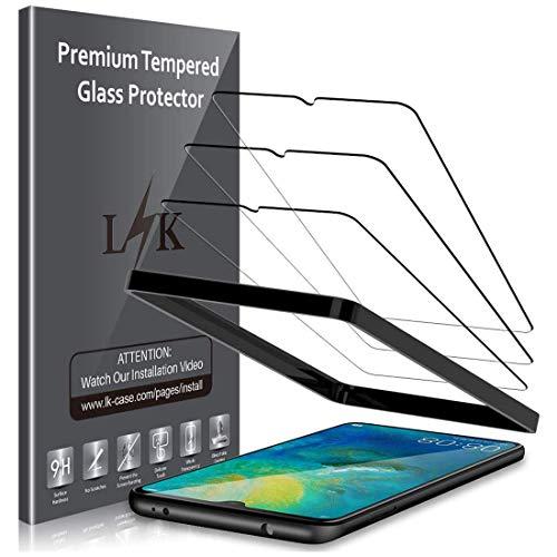 LK Panzerglas Schutzfolie für Huawei Mate 20, 3 Stück, 9H Festigkeit Panzerglasfolie, HD Klar Bildschirmschutzfolie, [Anti-Kratzen] [Blasenfrei] [2.5D Rand] [Einfacher Montage]