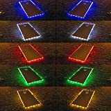 321 Lights Set of 2 Cornhole Board Edge Night Lights Waterproof Lights(Standard Size 4'x2'),Lasting 100+ Hours on 3 AA Batteries(not Included)
