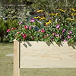 """MIXC Raised Garden Bed, Fir Wooden Planter Boxes for Outdoor Plants, Elevated Standing Planter with Waterproof Legs… 16 【Weather Treated Fir Wood】MIXC raised garden beds is made of untreated fir wood, which resists warping and splitting over time better than cedar. Overall Dimension: 46""""(L) X 21.6""""(W) X 30""""(H).The depth of the planter raised bed is 8.26 inches deep,that can be worked for tomato & carrots & any vegetable flower. 【Drainage Holes & Inner Liner】Four drainage holes are convenient to drain out excess water. Besides, we also provide a Waterproof PE rubber membrane(67""""*55"""") for you to DIY. The liner helps to keep soil and moisture from rotting the wood. 【Easy to Assemble But Sturdy】With complimentary installation guide, you can put this Planter Box together was less than 10 min without hammer and a screwdriver. The joints are dovetailed, which designed for better load-bearing structure. It has a load capacity of up to 385LBS that far heavier than other products."""
