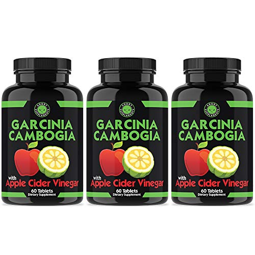 Angry Supplements Garcinia Cambogia with Apple Cider Vinegar Pills for Weightloss - Natural Detox Remedy Includes Gymnema, Cinnamon, Ketone for a Complex Diet, Health, and Nutrition (3-Pack)