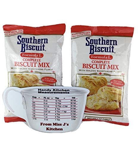 Southern Biscuit Formula L Biscuit Mix 7 oz (2 Bags) with Miss J's Handy Kitchen Measurements Conversion Chart for Refrigerator