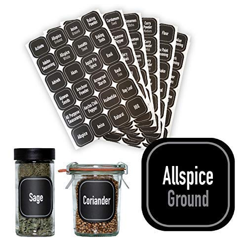 AllSpice 312 Preprinted Water Resistant Square Spice Jar Labels Set 2""