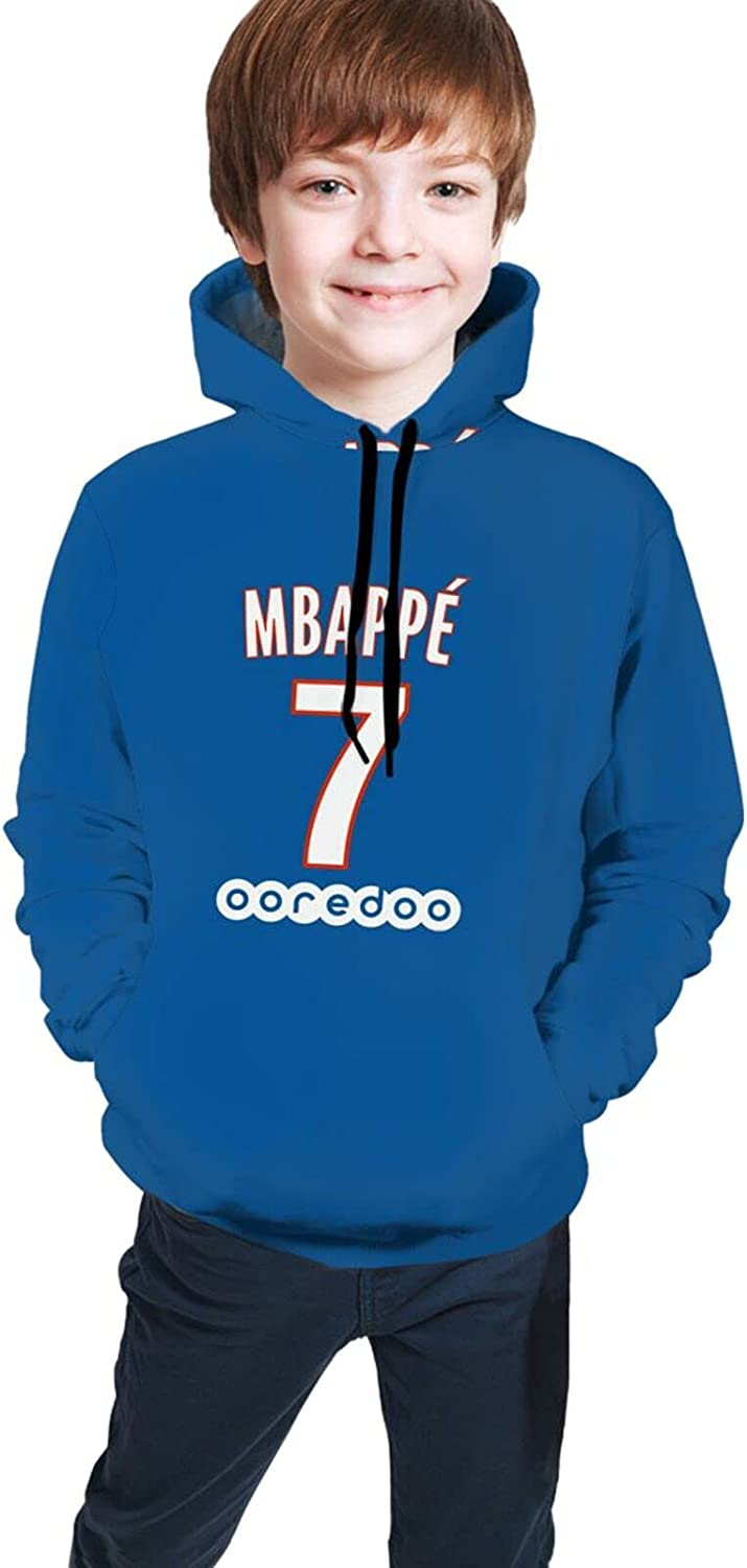 Paris Psg #7 Mbappe 2021 Fashion Hooded Sweater Hoodies For Teens Boys Girls With Pocket