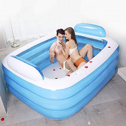 Pumpnnk Doppelte sehr große Erwachsenbadewannen-Sitzbadewannen-Paar-aufgeblasene Badewanne-Kind-tragbare Swimmingpool-Verdickung Nehmen Sie eine Bad-Falte, die Badewannen-Badewannen-Bassin-Fass-Fass-E