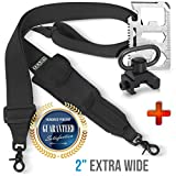 Team's 2 Point Rifle Sling,Hunting Rifle Strap, Gun Accessories, 2'' Extra Wide Strap,Sling with swivels, Fits Any Gun 2 Point Strap, Adjustable Length 40''-59'' + Free Bonus + Push Button