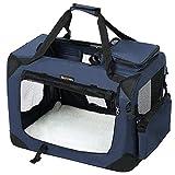 FEANDREA Cage de Transport, Caisse Sac de Transport Pliable, pour Chien, Animal Domestique, Bleu...