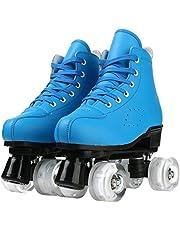 YYW Roller Skates للمبتدئين قابل للتعديل التزحلق عالية الجودة بكرة التزلج التزلج أربعة عجلات عجلات عجلات عجلات للجنسين