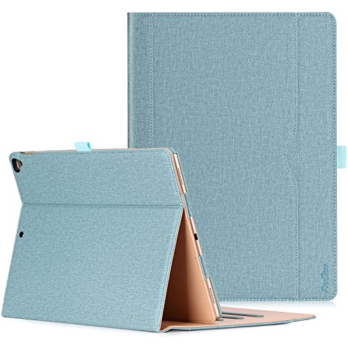 ProCase Apple iPad Pro 12.9 2017/2015 (Old Models) Case -Premium Leather Stand Folio Case Cover,with Apple Pencil Holder Auto Sleep/Wake, for iPad Pro 12.9 Inch -Teal