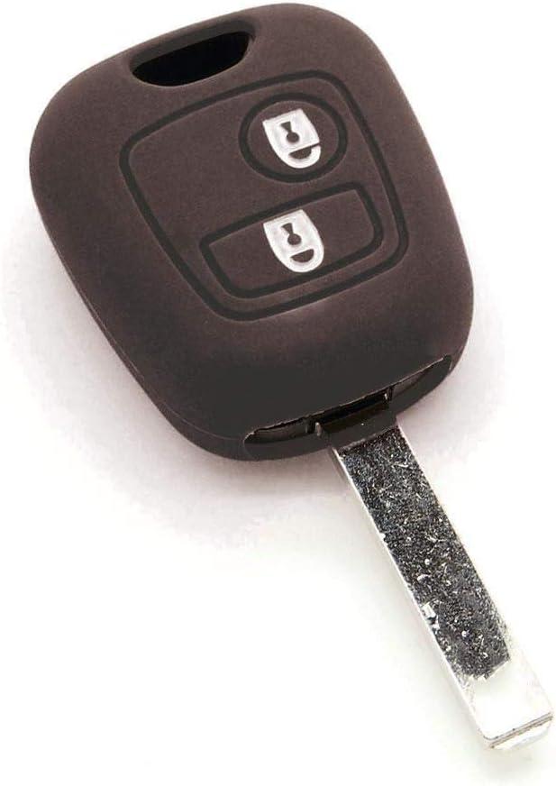 Schlüsselhülle Aus Silikon Für Citroen C1 C2 C3 C4 C5 Saxo Xsara Picasso Schwarz Auto