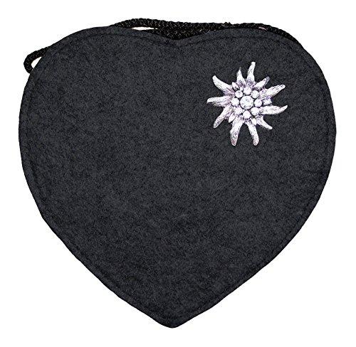 Herz Trachtentasche mit Edelweiß