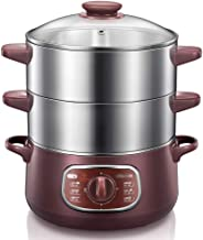 DIAOD Double-layer Stainless Steel Electric Food Steamer 8L Automatic Electric Steamer 90mins Twist Timing Hot Pot
