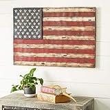 38' x 26' American Flag Rustic Wall Art,Wrought Iron Wall Decor