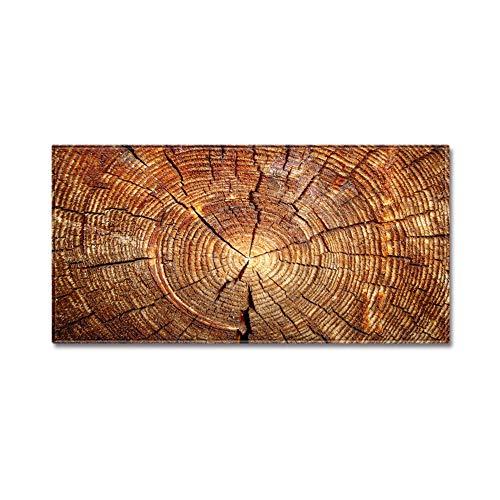 DishyKooker Tapis de sol rectangulaire imitation bois impression grain de bois Absorbe l