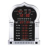 Precision Works Azan Clock Large for Home Or Masjid with LED Display 5115 Silver