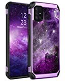 BENTOBEN Galaxy A71 Case 5G, Phone Case Samsung A71 5G, Slim Fit Glow in The Dark Shockproof Protective Dual Layer Hybrid Hard PC Soft TPU Bumper Drop Protection Girls Women Cover, Nebula/Space Design