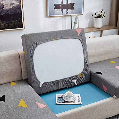 Fundas de cojín para sofá y sofá, elásticas, de repuesto para cojines individuales (gris, 2 plazas)