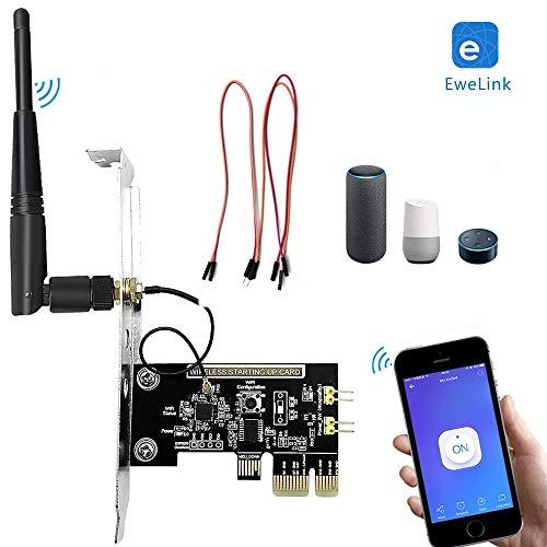 Interruptor de Control inalámbrico Inteligente Newgoal Tarjeta de Interruptor de temporización controlada por aplicación Ewelink para Tarjeta de Red de computadora de Encendido/Apagado Remoto WiFi