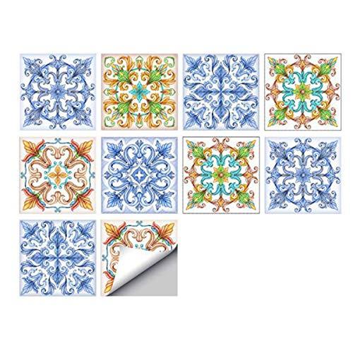 10 Piezas Pegatinas de Azulejos de Pared Pegatinas de Pared de Pvc Autoadhesivas Calcomanías Impermeables Pegatinas Diy Arte de Pared para Cocina Decoración Del Hogar
