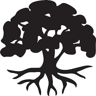 NBFU DECALS Tree Life Silhouette (Black) (Set of 2) Premium Waterproof Vinyl Decal Stickers for Laptop Phone Accessory Helmet Car Window Bumper Mug Tuber Cup Door Wall Decoration