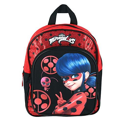Miraculous Ladybug Kinderrucksack - Ladybug und Tikki - Secret Identity - Rot und Schwarz