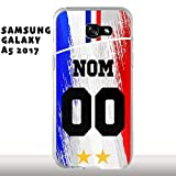 MYCOQUE Coque Samsung Galaxy A5 2017 Foot France - Personnaliser Votre Maillot Foot France 2...