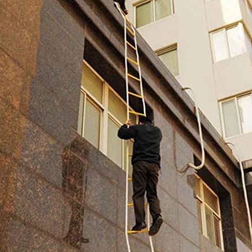 juman634 Escalera de Escape con Cuerda con mosquetón Escalera de Seguridad de Emergencia para niños y Adultos Escape de la Ventana y el balcón