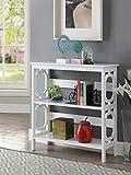 Convenience Concepts Omega 3 Tier Bookcase, White