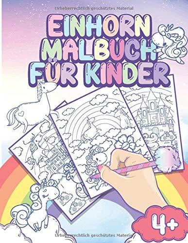 Einhorn Malbuch für Kinder: Pferdemalbuch ab 4 Jahre für Mädchen und Kinder - Einhörner zum...